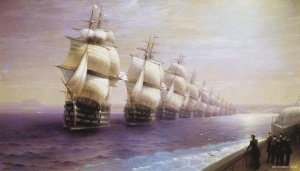 Parade of the Black Sea Fleet in 1849