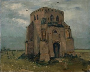 Печать на холсте Country Churchyard and Old Church Tower, 1885