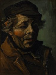 Печать на холсте Head of a Peasant (Study for the Potato Eaters), 1885
