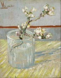 Печать на холсте Blossoming Almond Branch in a Glass, 1888