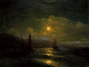 A corner of Constantinople from the sea by moonlight  1878.  65 - 84
